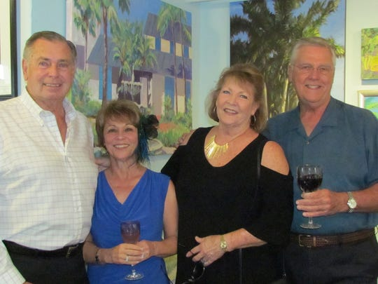 Dave Rice, Barbara Dameron, Jeanne Rice and Keith Dameron stopped by the gallery to enjoy the festivities before heading to dinner.