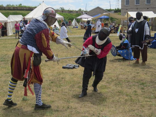 Dueling knights are among the attractions the Medievals Days Weekend at Historic Ft. Wayne.