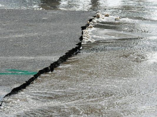 Water main break in IHB