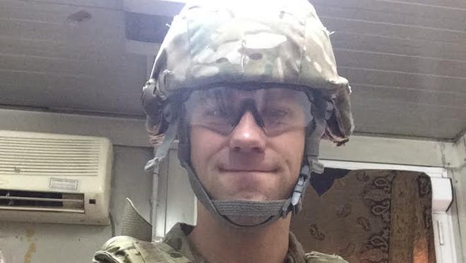 U.S. Air Force Capt. Eric Ehn during his deployment to Kabul, Afghanistan, earlier this year. Ehn played for the Green Bay Gamblers during the 2003-04 season.