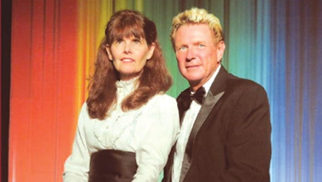 """Diana Lynn (left) and Ron Preston start in """"Carpenters once more"""", a show celebrating the music of The Carpenters on Saturday in Bull Shoals."""