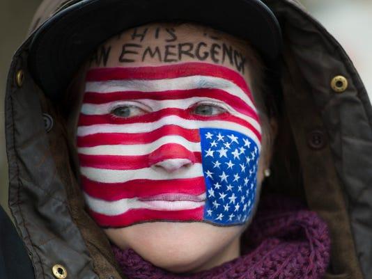 NAS-imigration protest
