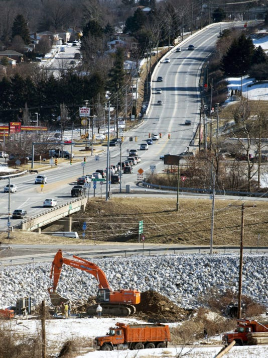 The 2015 Urban Mobility Scorecard says drivers in York County are spending 15 hours stuck in traffic annually. The Mount Rose Avenue interchange of Interstate 83 is one of the areas that is congested, and a makeover of the interchange is underway.