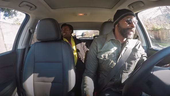 Jerry Rice goes undercover as a Lyft driver in San