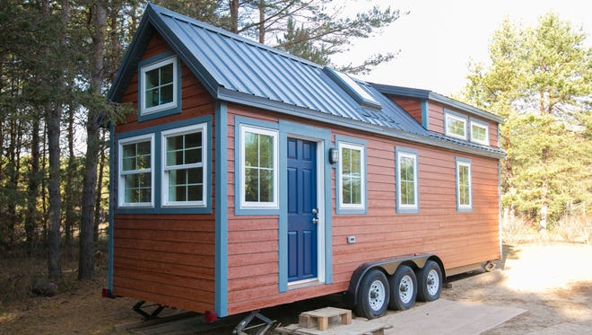 """Here is the exterior of the tiny home that JB Home Improvers in Monticello built. It will be featured on """"Tiny House, Big Living."""""""