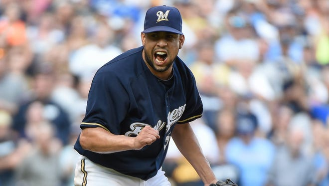Milwaukee Brewers pitcher Francisco Rodriguez.