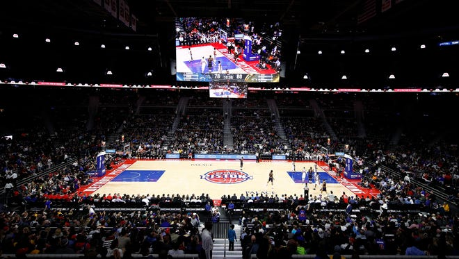 General view of the Palace of Auburn Hills during a game between the Pistons and Cavaliers on March 9, 2017.