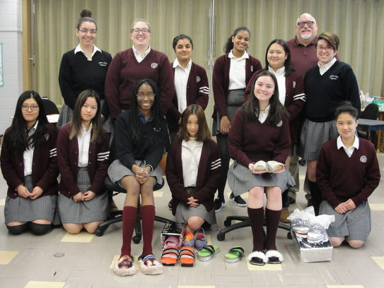 "Students with their ""Designer Shoes"""