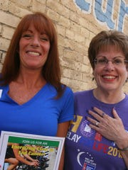Michele Vanderyacht of Epic Fitness and Kathy Ottele of Relay For Life are behind two cancer research fundraisers scheduled this Saturday.