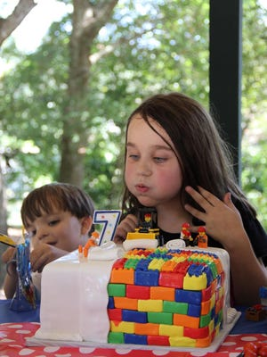 This Lego birthday cake by Sweet Creations in Gulf Breeze helped make Taylor's Lego birthday party a success.