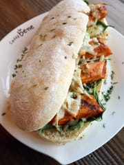 The Spicy Chicken Sandwich at Caffe Bene has a very spice, made-in-house sauce and fresh, natural ingredients.