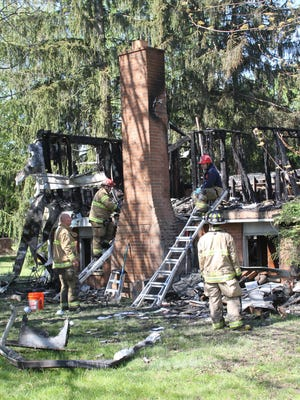 Fire officials said a Brighton Township man died in an early Monday morning fire that destroyed his Buno Road home.