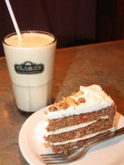 For drinks and desserts on a special night, Clara's carrot cake and Bailey's Belly Button is the choice for Bill's Bites.