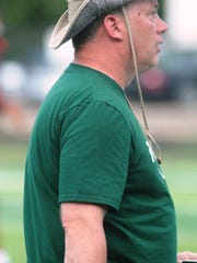 Brossart head coach Paul Wiggins during a football