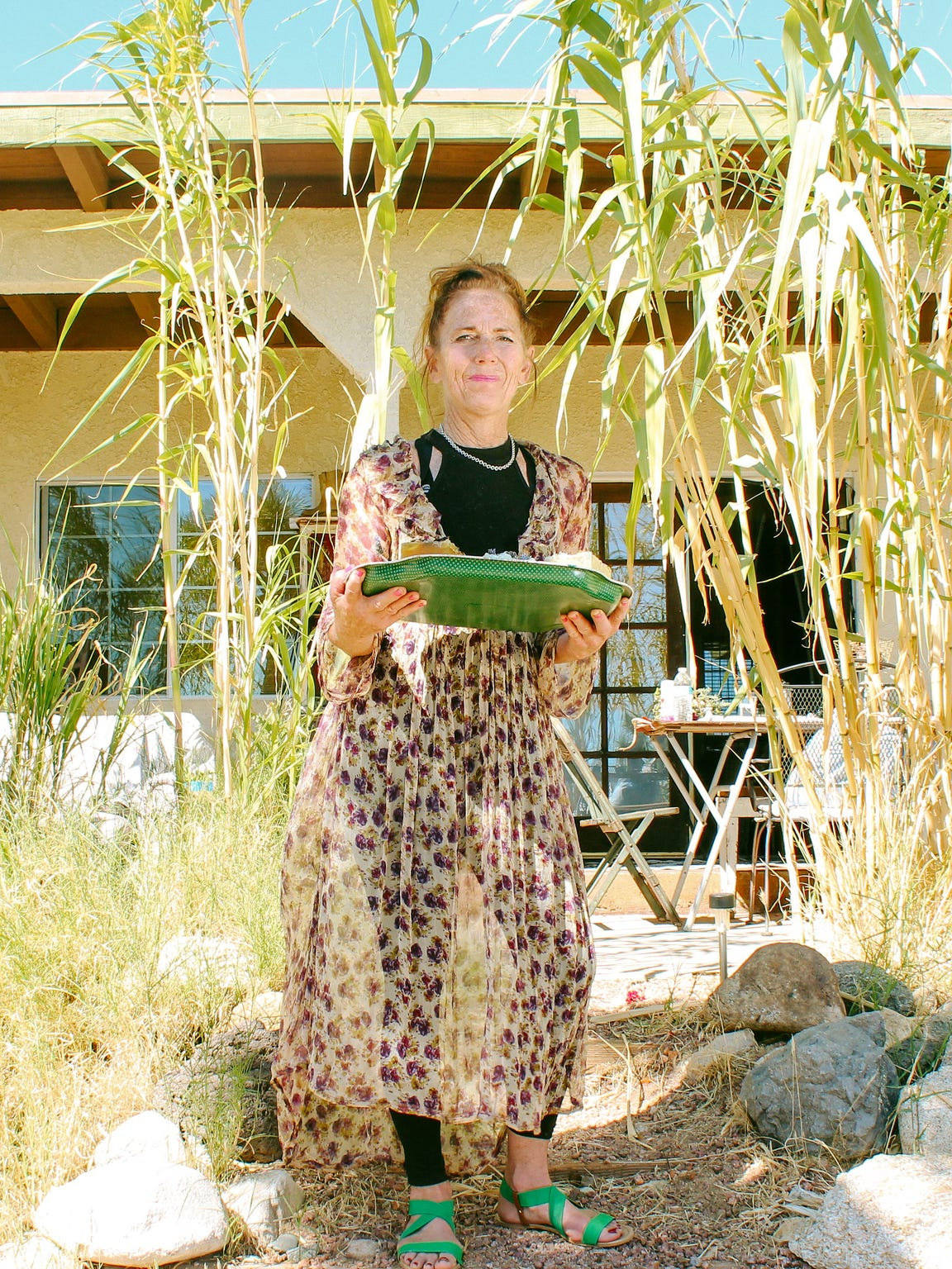 Deedee Tierney with her soaps at her high desert home
