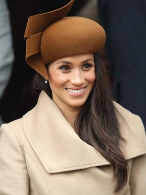 Meghan Markle attends Christmas Day Church service at Church of St Mary Magdalene on Dec. 25, 2017 in King's Lynn, England.