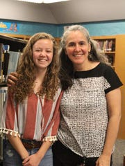 Makayla Miller, left, with Mentor Dr. Ana Zorilla