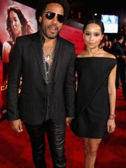 Lenny Kravitz, left, and daughter Zoe Kravitz.
