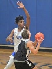 Walton-Verona senior Dieonte Miles plays defense during