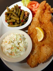 The Catfish dinner at Cedar's is a popular menu item
