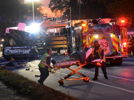 AP BALTIMORE FATAL BUS CRASH A USA MD