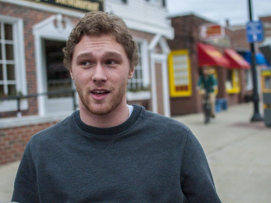 David Thibault of Berwick, Maine, a student at the University of New Hampshire in Durham, is seen on Thursday, February 4, 2016.  Thibault said he will vote Republican in the upcoming primary but has not yet chosen a candidate.