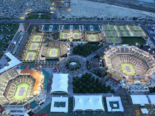 the indian wells tennis stadium on march 14 2015 - Indian Wells Tennis Garden