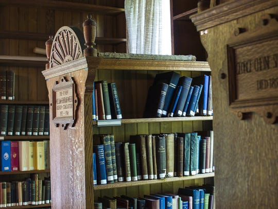 The Bissell Library in the home of Episcopal Bishop