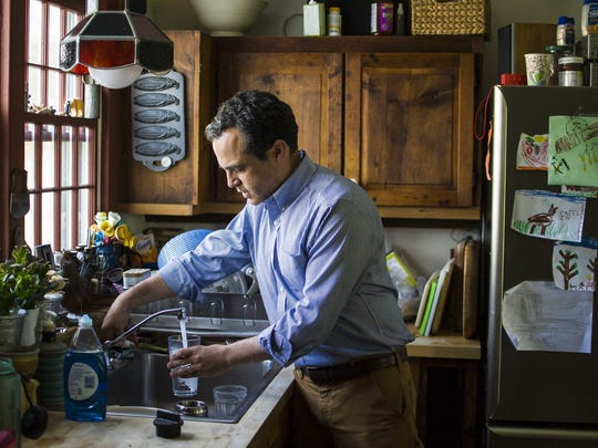 Matt Dunne, Democratic candidate for governor, at home in Hartland on Monday, May 23, 2016.