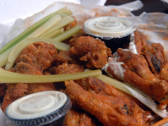 Wings from Sharky's Wings & Raw Bar  located at 545