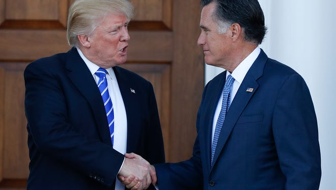President Donald Trump (left) and U.S. Senate candidate Mitt Romney have a complicated political relationship.
