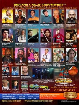 Pensacola Comic Con is set for Saturday and Sunday.