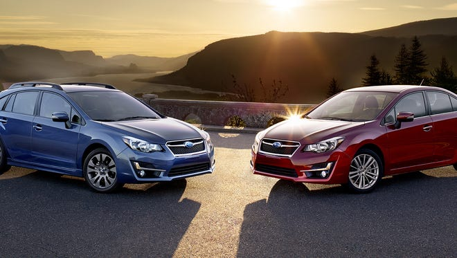 The new fourth-generation Impreza debuts revised front styling with a new front bumper, grille and headlights that give it a closer kinship to the all-new 2015 Legacy.