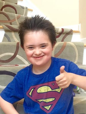 Voorhees boy Luca Zadeh was chosen to have his picture featured in the annual video presentation by the National Down Syndrome Society.
