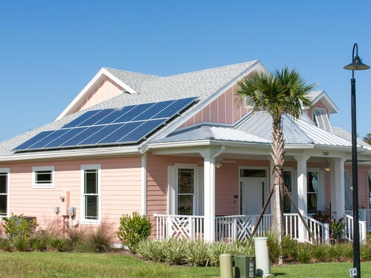 Florida Water Star homes in Green Key Village in Lady Lake. Florida Green certification by the Florida Green Building Coalition represents achievements in several categories.