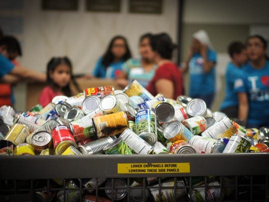 2015: Stamp Out Hunger hoped to collect 120,000 pounds