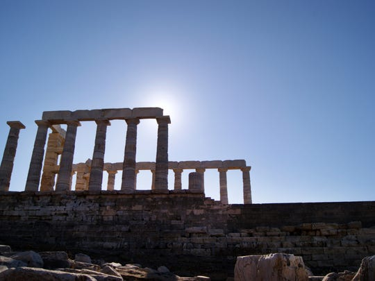 In this Dec.12, 2016 photo, the Temple of Poseidon,
