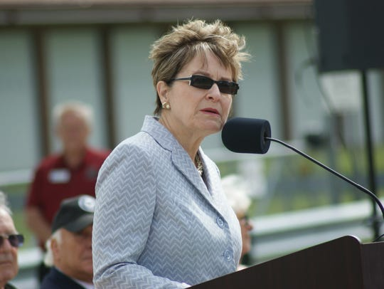 U.S. Rep., Marcy Kaptur, D-Toledo, addresses the audience