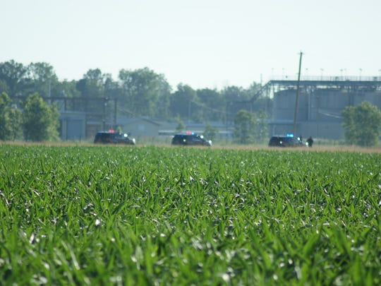 Perimeter has been set up by law-enforcement officials at County Road 244 and Ohio 412.