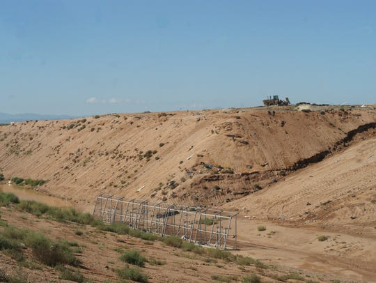 This mound at the Butterfield Trail Regional Landfill