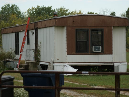Michael Bolger's mobile home on East Adams Street in Green Springs.