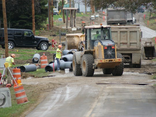 Construction crews were working on a sewer project on East Adams Street in Green Springs on Oct. 4 when they were targeted by a gunman.
