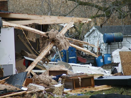The Red Cross is providing shelter for the family whose home on Ohio 412 was destroyed by Sunday's tornado.