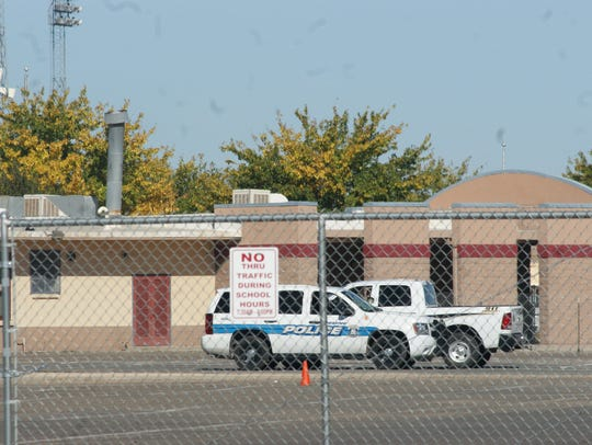 Law enforcement was a visible presence at Deming High