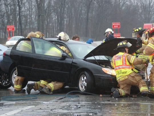 Clyde Fire Department and Sandusky County EMS work
