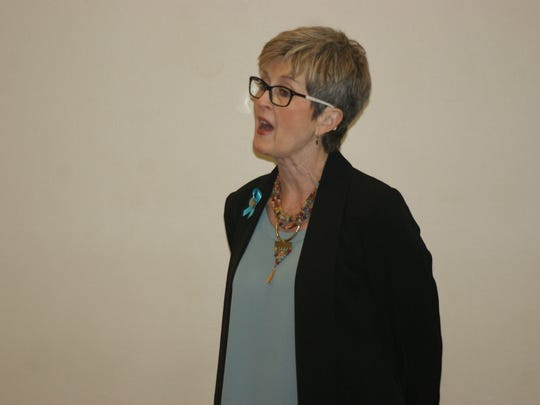 Marcie Seidel, executive director of the nonprofit Prevention Action Alliance, voices concerns over medical marijuana.