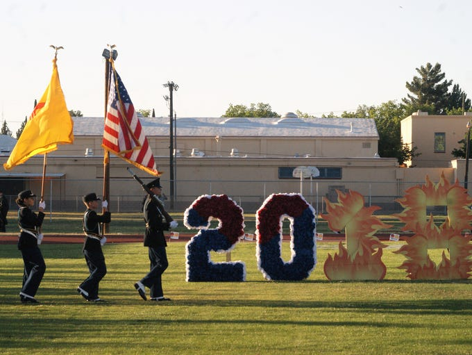 The colors are presented ahead of the Class of 2018