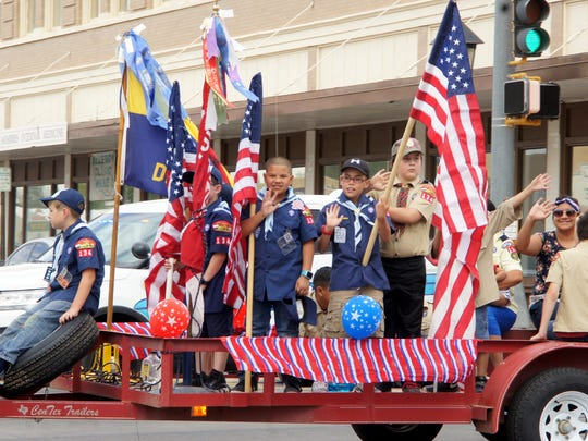 The local Boys Scouts and Cub Scouts are ready for