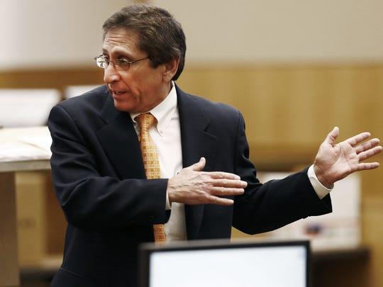 Maricopa County Prosecutor Juan Martinez, shown at the trial of Jodi Arias.
