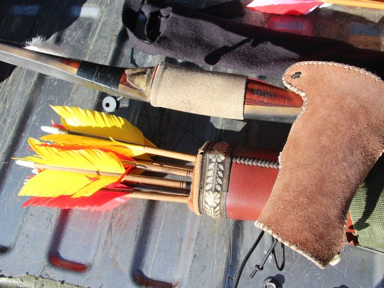 Traditional archery equipment, including a recurve